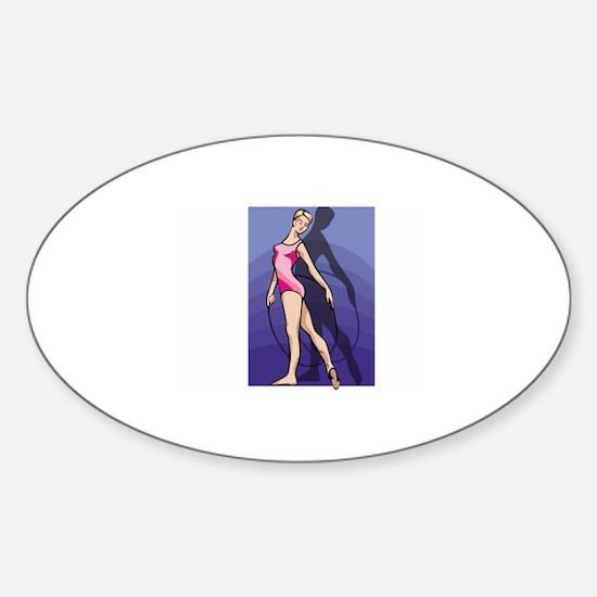 Gymnastics Sticker (Oval)
