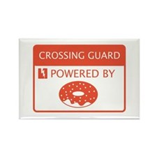 Crossing Guard Powered By Doughnuts Rectangle Magn