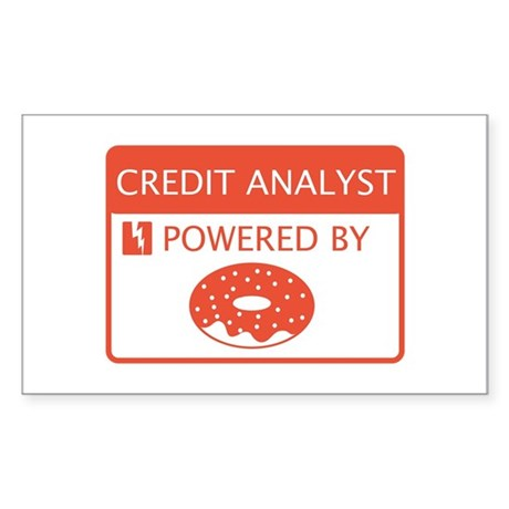 Credit Analyst Powered By Doughnuts Sticker (Recta