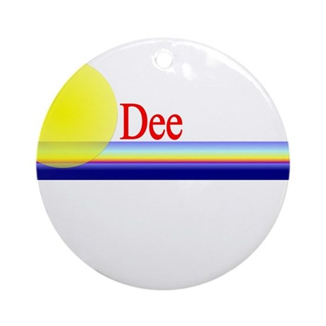 Dee Ornament (Round)