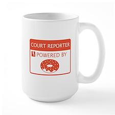 Court Reporter Powered By Doughnuts Mug