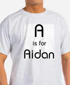 A Is For Aidan Ash Grey T-Shirt