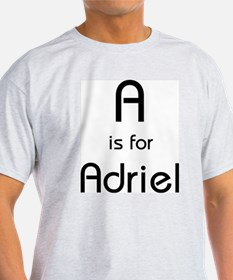A Is For Adriel Ash Grey T-Shirt
