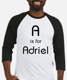 A Is For Adriel Baseball Jersey