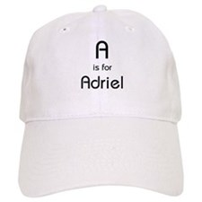 A Is For Adriel Baseball Baseball Cap