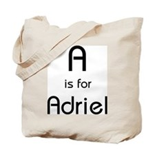 A Is For Adriel Tote Bag