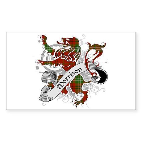 Morrison Tartan Lion Sticker (Rectangle)