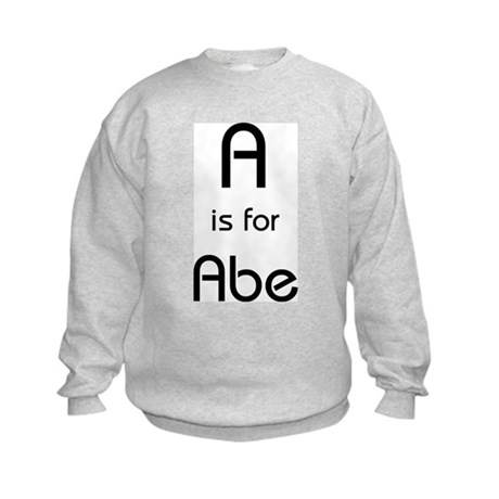 A Is For Abe Kids Sweatshirt