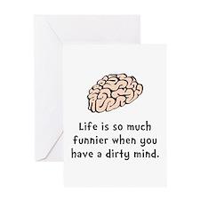 Funnier Dirty Mind Greeting Card