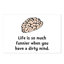 Funnier Dirty Mind Postcards (Package of 8)