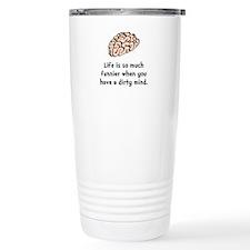 Funnier Dirty Mind Travel Mug