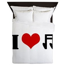 I Heart Music Queen Duvet