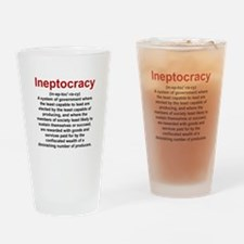 Ineptocracy Drinking Glass