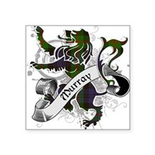 "Murray Tartan Lion Square Sticker 3"" x 3"""