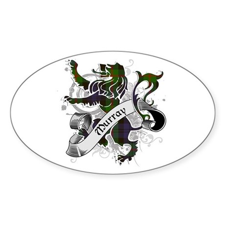 Murray Tartan Lion Sticker (Oval)