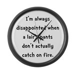 Liar Pants On Fire Large Wall Clock