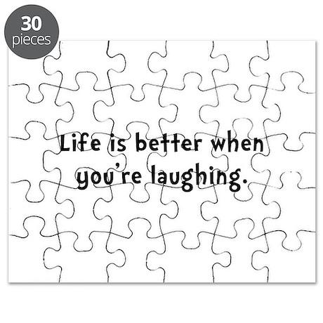 Life Better Laugh Puzzle