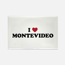 I Love Montevideo Rectangle Magnet