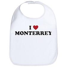 I Love Monterrey Bib