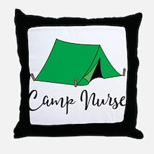 Camp Nurse Gift Throw Pillow