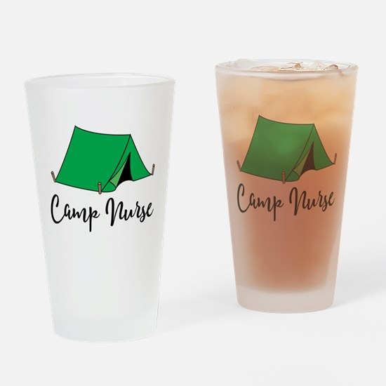 Camp Nurse Gift Drinking Glass