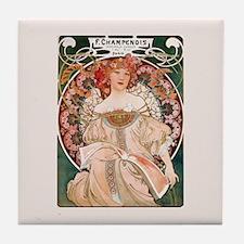 Alphonse Mucha Reverie Tile Coaster