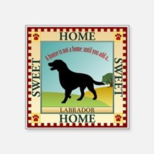 "Labrador Retriever Square Sticker 3"" x 3"""