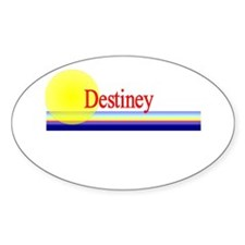Destiney Oval Decal