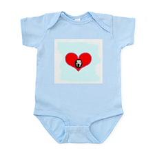 PIT BULL  HEART Infant Creeper