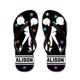 Cheerleading personalized Flip Flops