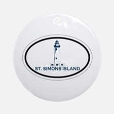 St. Simons Island - Oval Design. Ornament (Round)