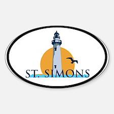 St. Simons Island - Oval Design. Sticker (Oval)
