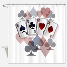 Four Aces and Suits Shower Curtain