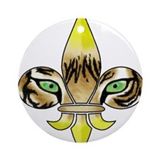 Centered Fleur De Lis Ornament (Round)