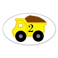 Second Birthday Dump Truck Decal
