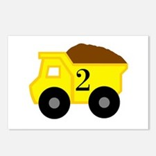 Second Birthday Dump Truck Postcards (Package of 8