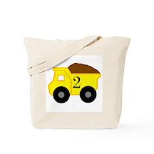 Second Birthday Dump Truck Tote Bag