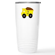 Second Birthday Dump Truck Travel Mug