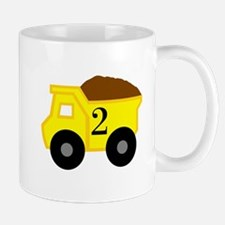 Second Birthday Dump Truck Mug