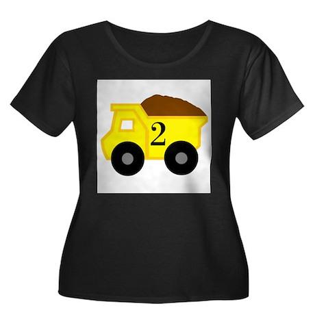 Second Birthday Dump Truck Women's Plus Size Scoop