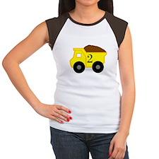 Second Birthday Dump Truck Women's Cap Sleeve T-Sh