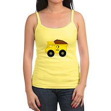 Second Birthday Dump Truck Jr.Spaghetti Strap