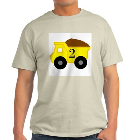 Second Birthday Dump Truck Light T-Shirt