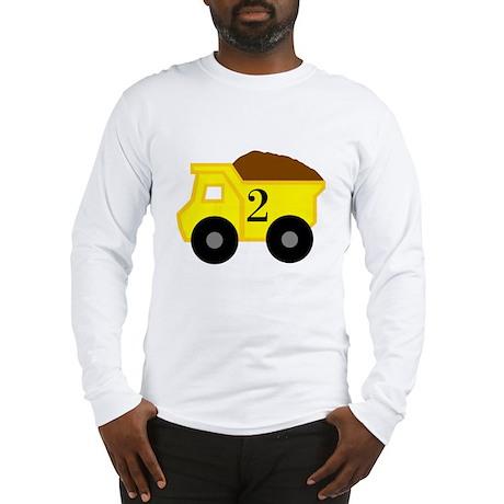 Second Birthday Dump Truck Long Sleeve T-Shirt