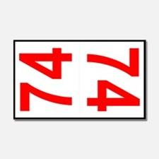 74 Autocross Number Plates Car Magnet 20 x 12