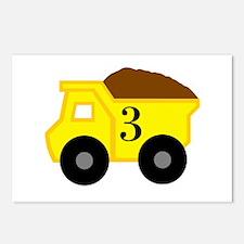 Third Birthday Dump Truck Postcards (Package of 8)