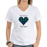 Heart-MacLaggan Women's V-Neck T-Shirt