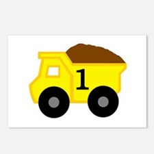 First Birthday Dump Truck Postcards (Package of 8)