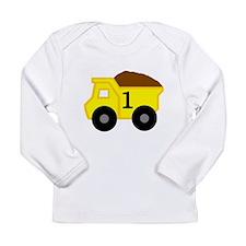 First Birthday Dump Truck Long Sleeve Infant T-Shi