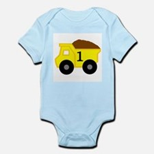 First Birthday Dump Truck Infant Bodysuit